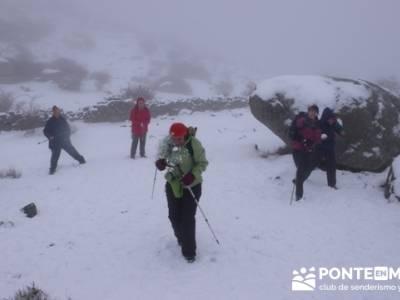 Ruta San Lorenzo de el Escorial - Zarzalejo  - Collado de Entrecabezas - Guerra de bolas de nieve